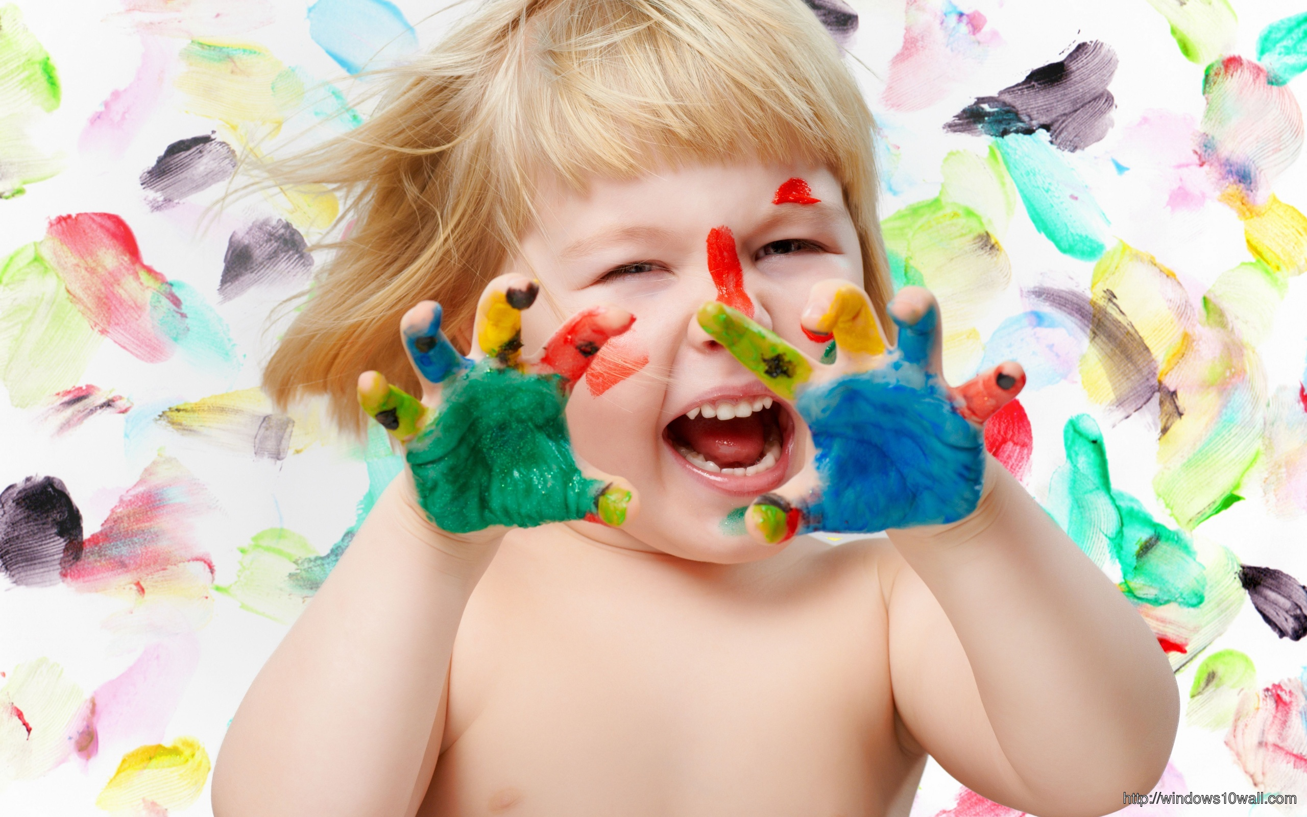 Beautiful Colorful Child Background Picture