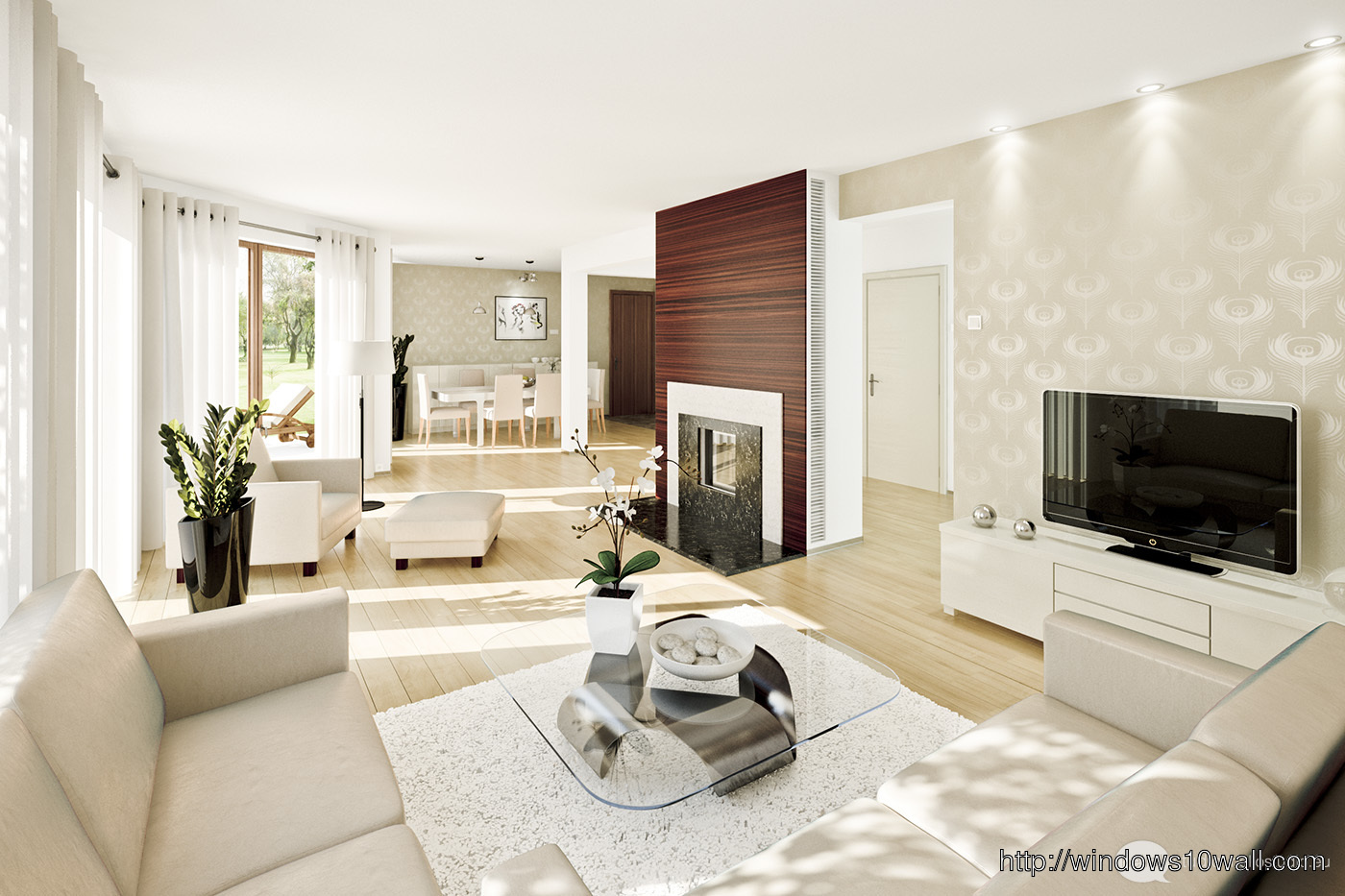 Beautiful Living Room Spaces Ideas 2014 Background