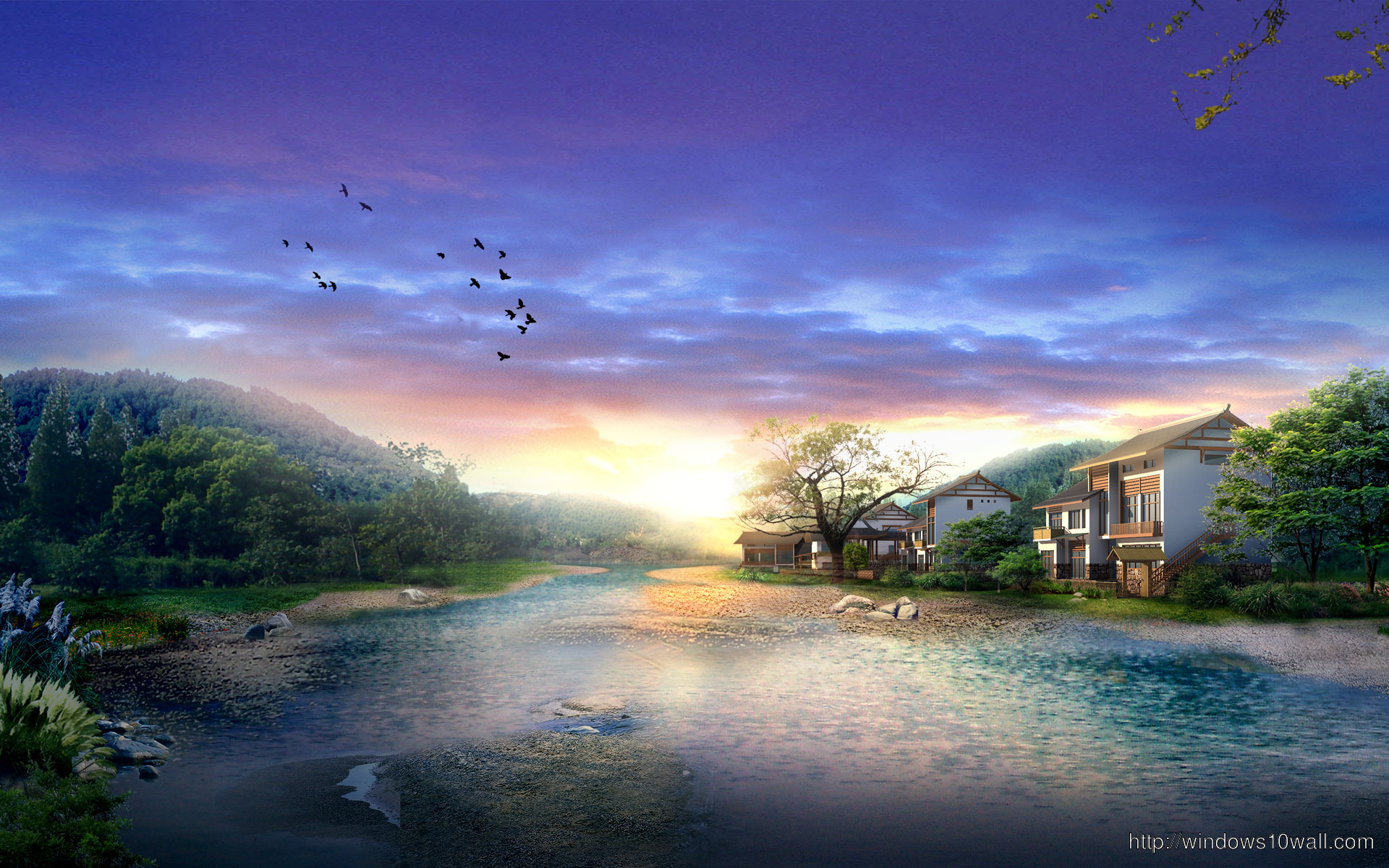 Blue Sky Alone in the Nature Beautiful Wallpaper