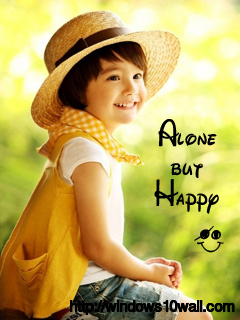 Cute Baby Alone But Happy Wallpaper
