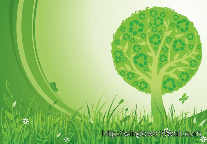 Go Green recycle background wallpaper