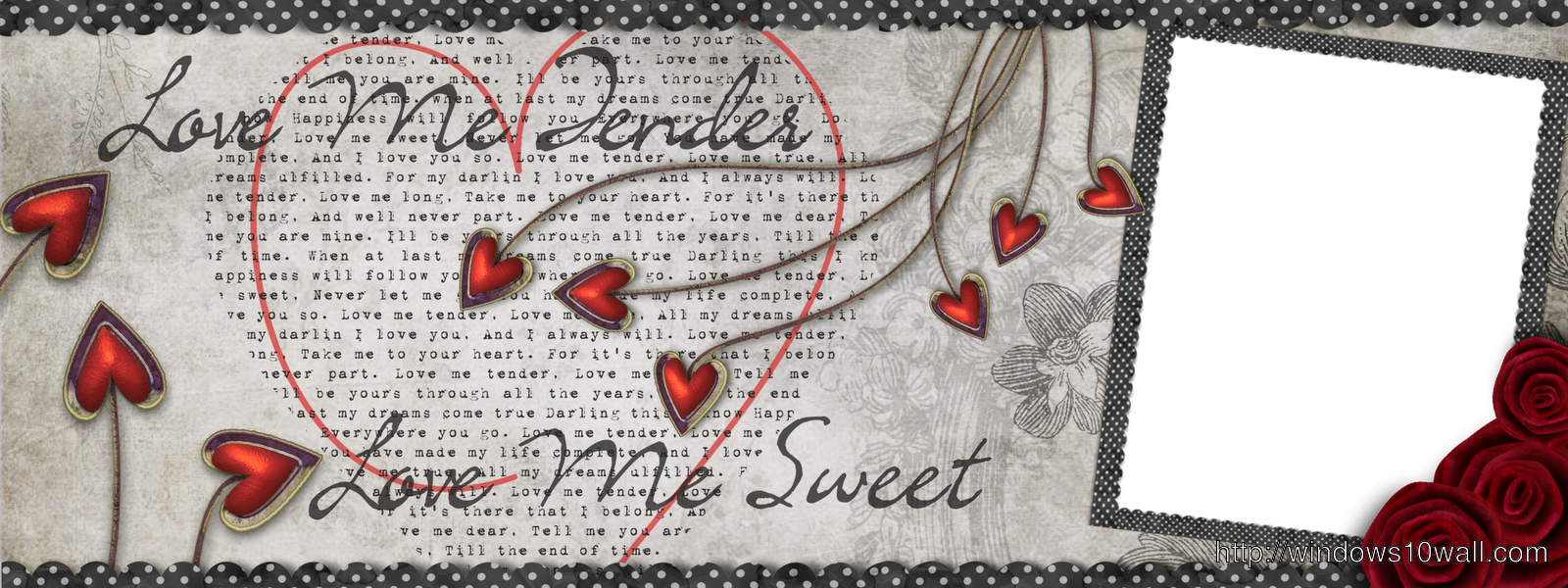 Lovers Valentine FB Cover Background Wallpaper