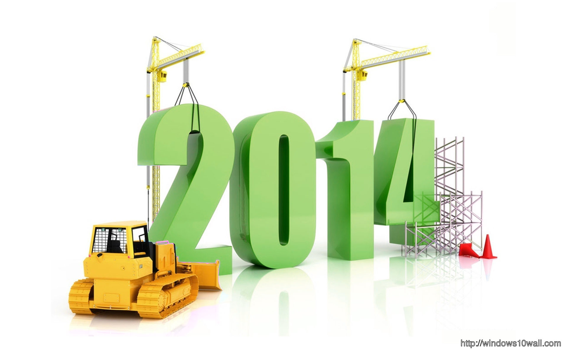 New Year 2014 3d Background Wallpaper