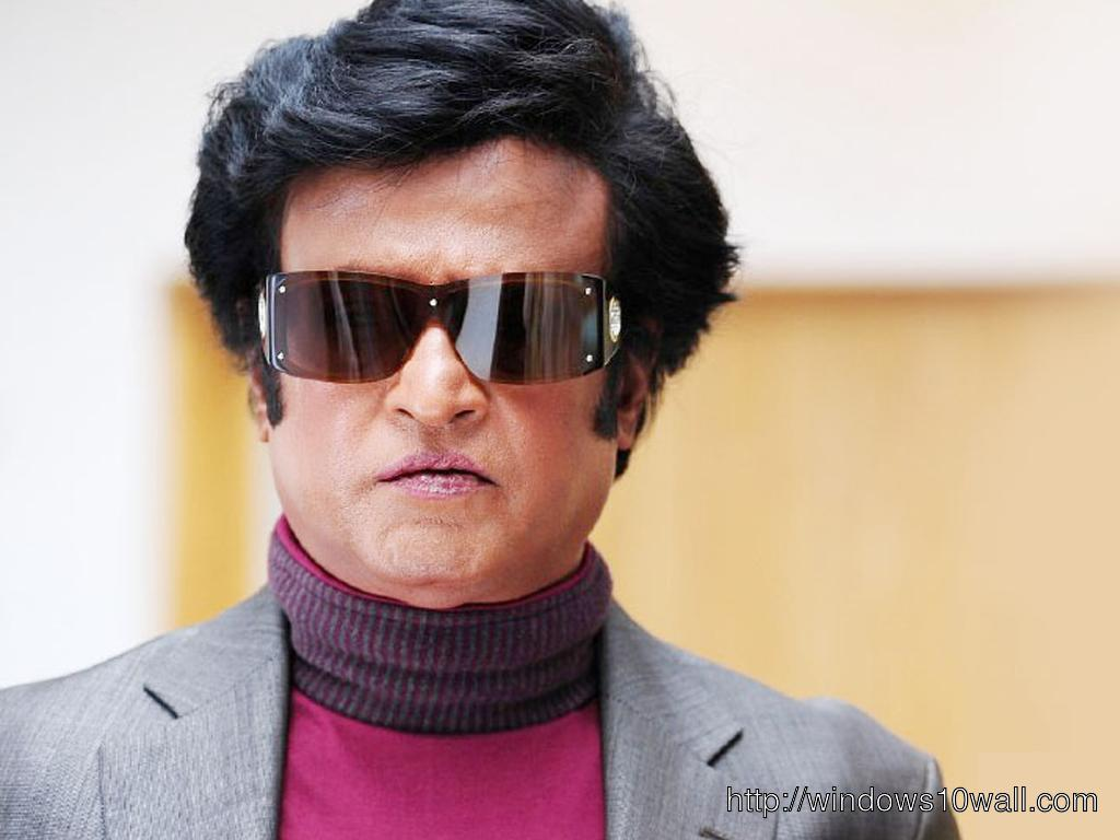 Rajinikanth Wearing Glasses Background Wallpaper