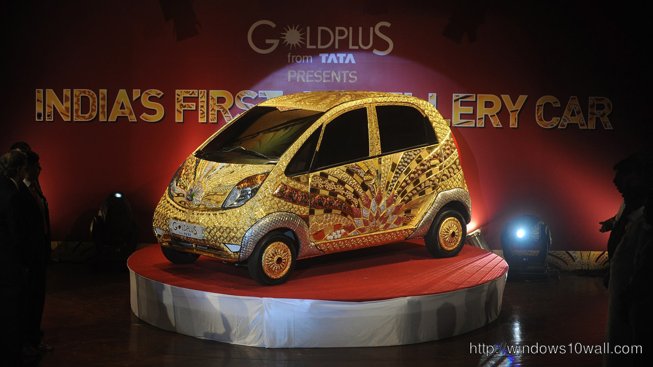 Tata Nano Gold Plus Background Wallpaper
