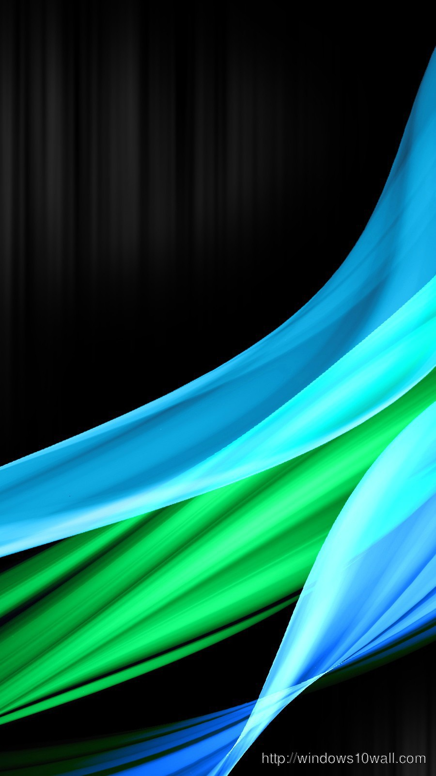 Blue and Green Wave iPhone 5s Background Wallpaper