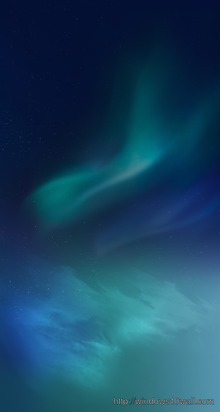Blue Northern Lights iPhone 5 Background Wallpaper