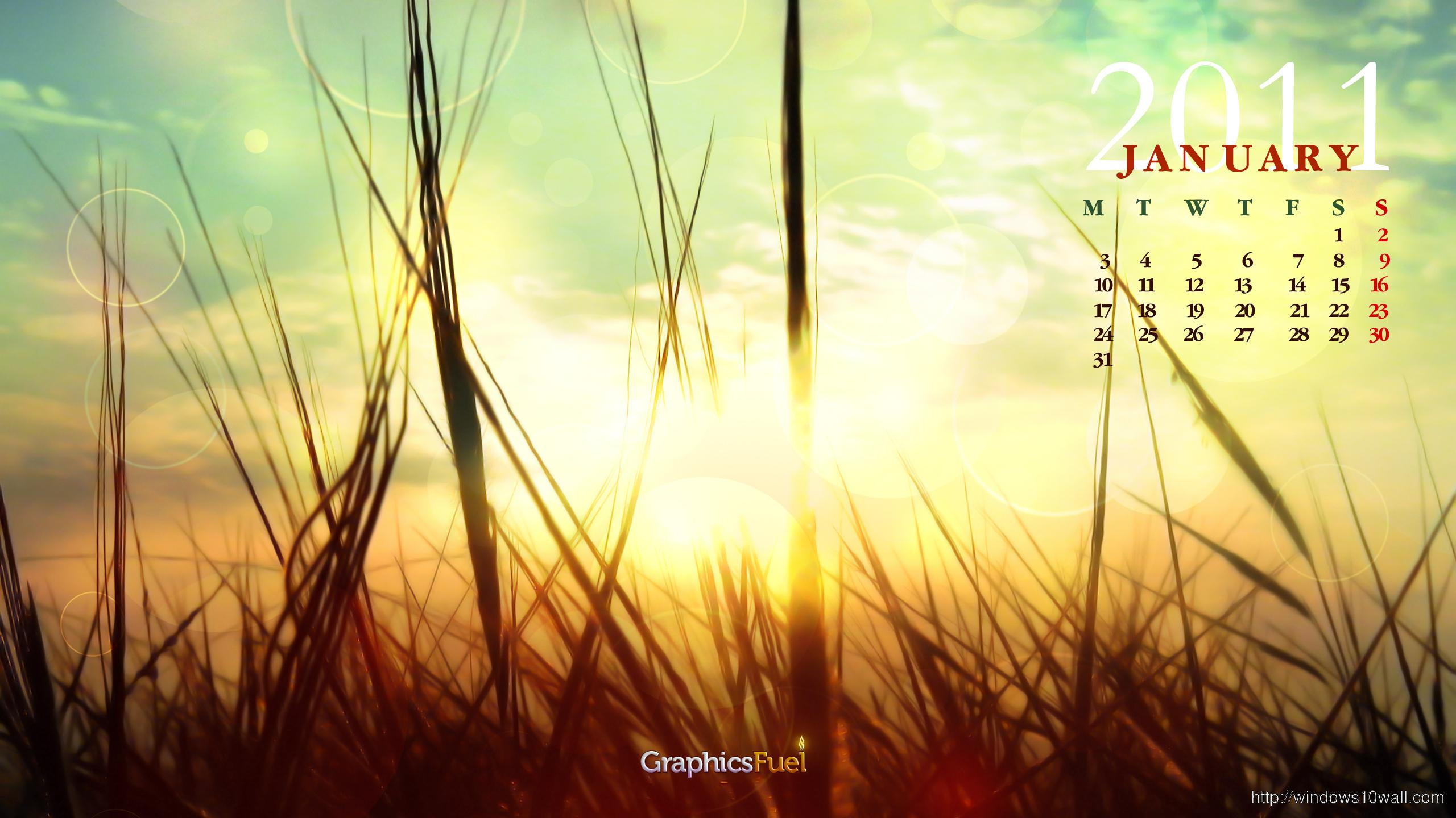 January Desktop Background Wallpaper
