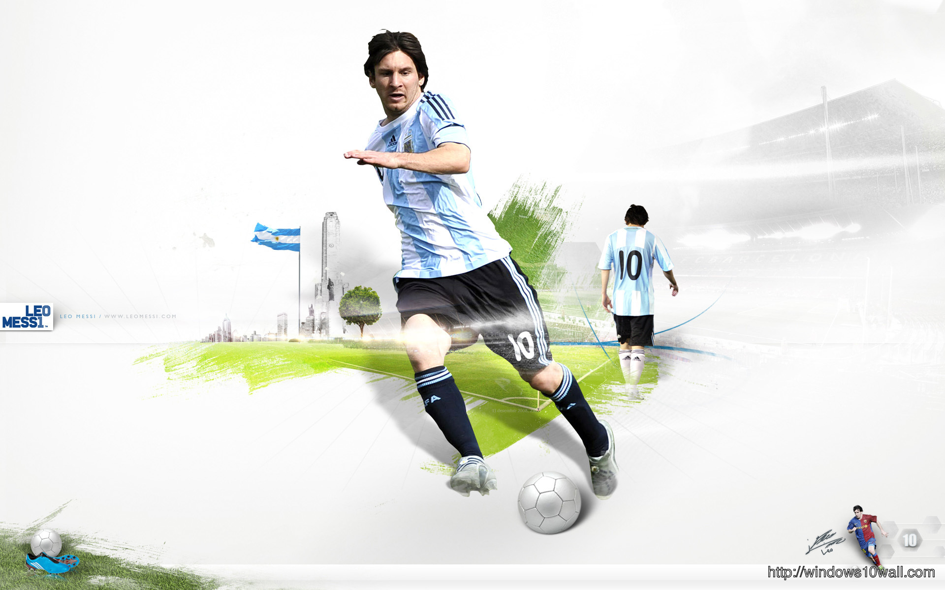Leo Messi Football Player Background Wallpaper