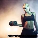 Lindsey Vonn Exercising Background Wallpaper