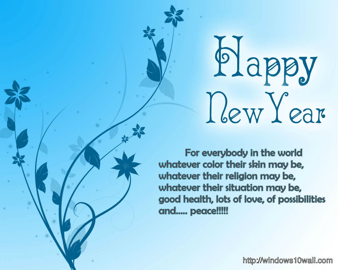 New Year Wishes Greetings 2014 Background Wallpaper