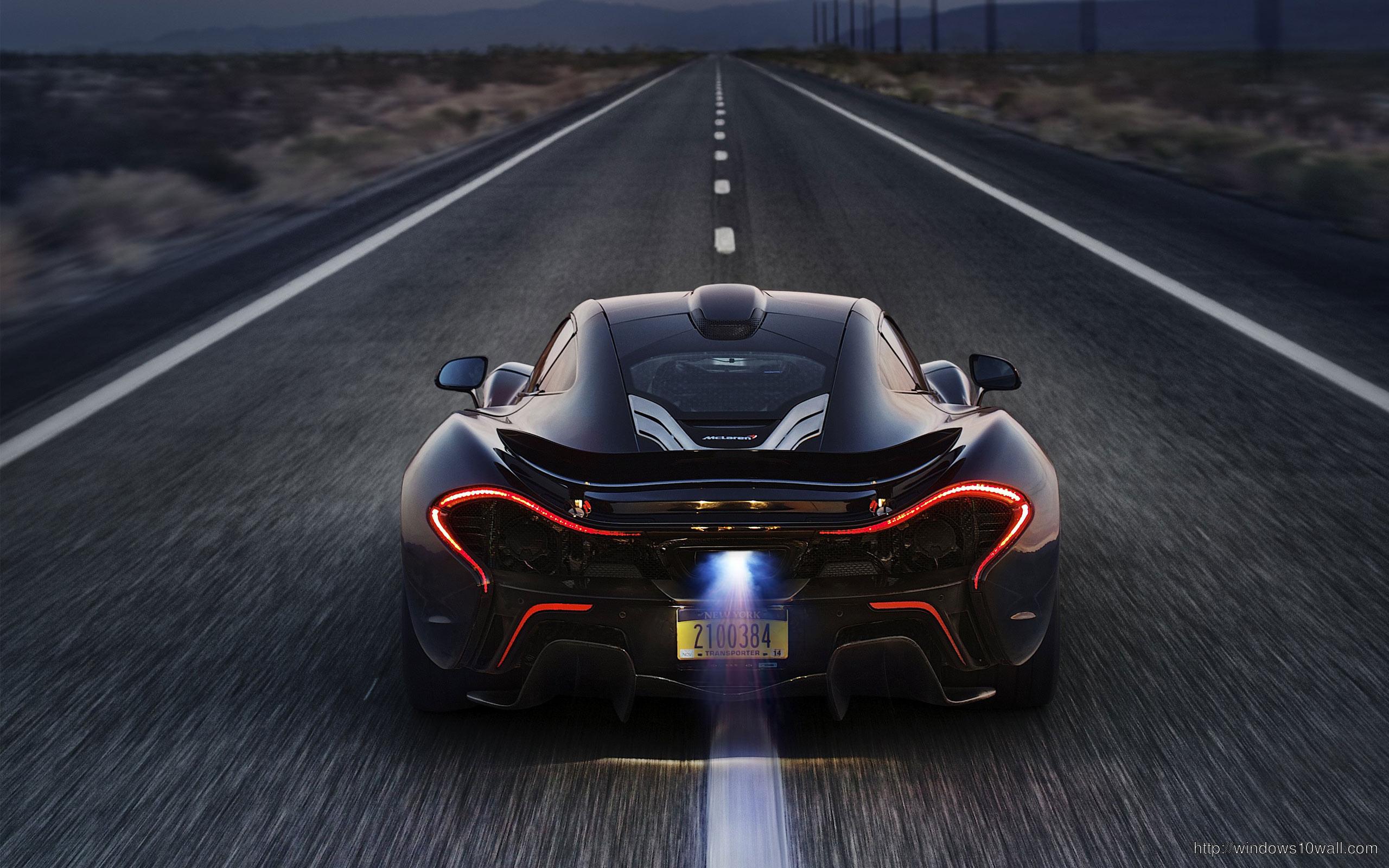 On Road Stunning McLaren P1 2014 Background Wallpaper