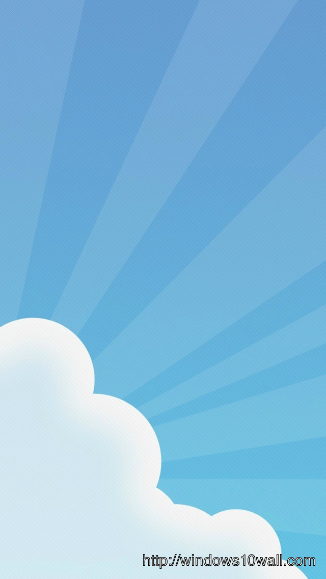 Simple Cloudy iPhone 5s Background Wallpaper