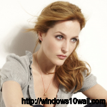 Gillian Anderson Looks Angry Background Wallpaper