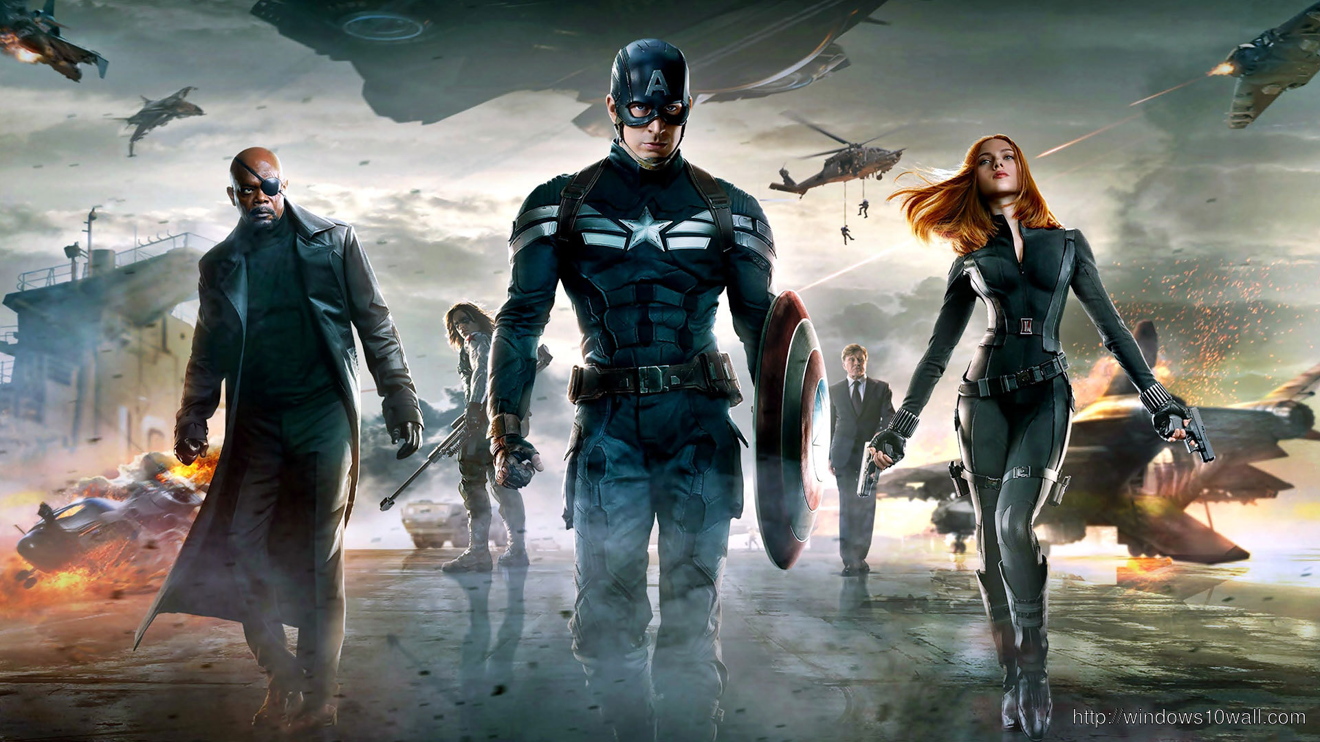 Captain America The Winter Soldier 2014 Poster Wallpaper