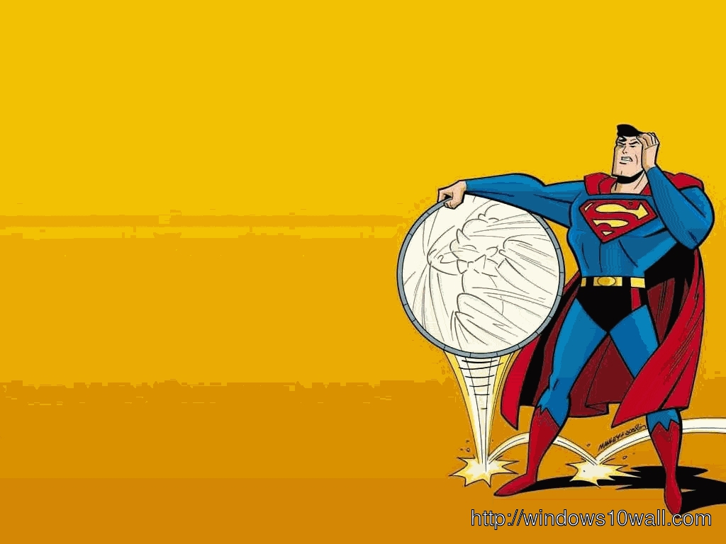 Funny Superman Cartoon Background Wallpaper
