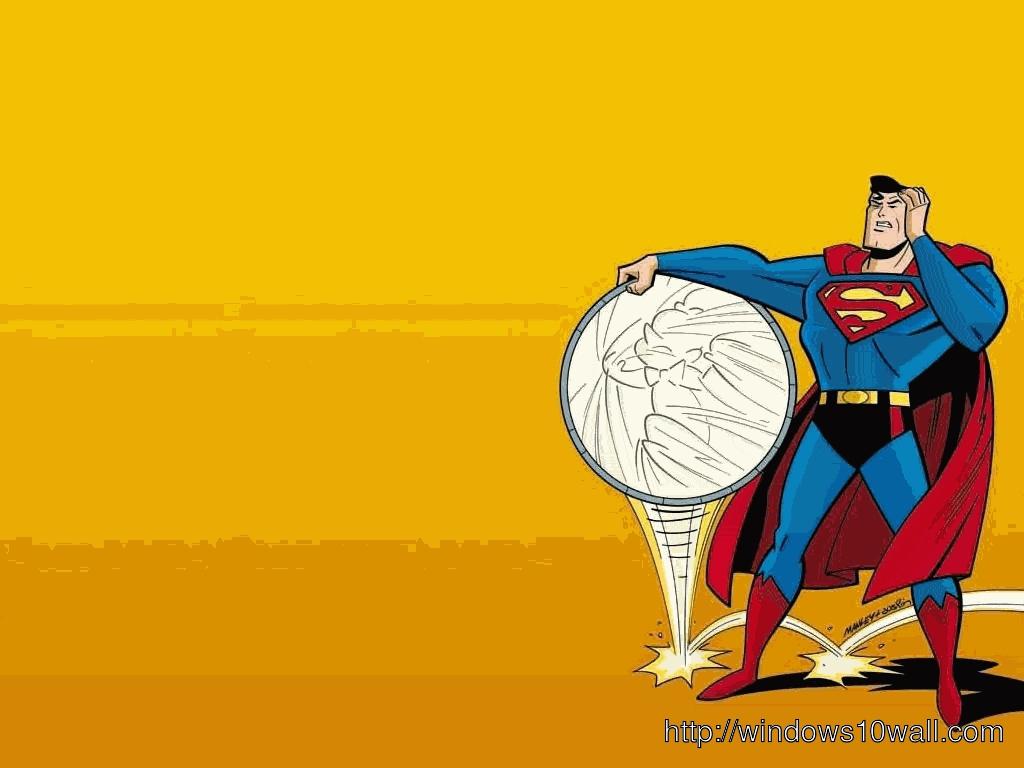 Funny Superman Cartoon Background Wallpaper
