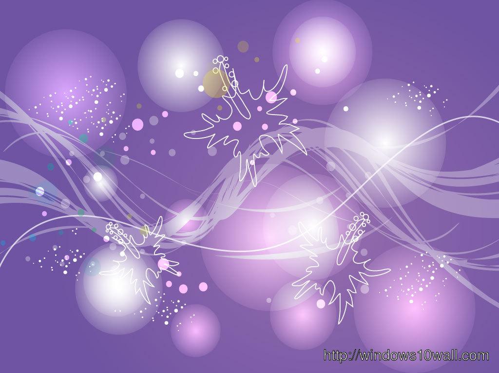 Lavender Background Bubbles - windows 10 Wallpapers
