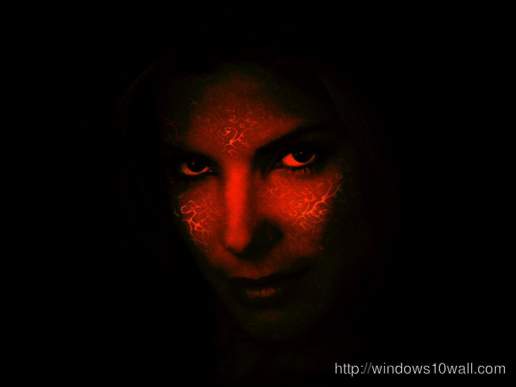 Red face Black Background Wallpaper