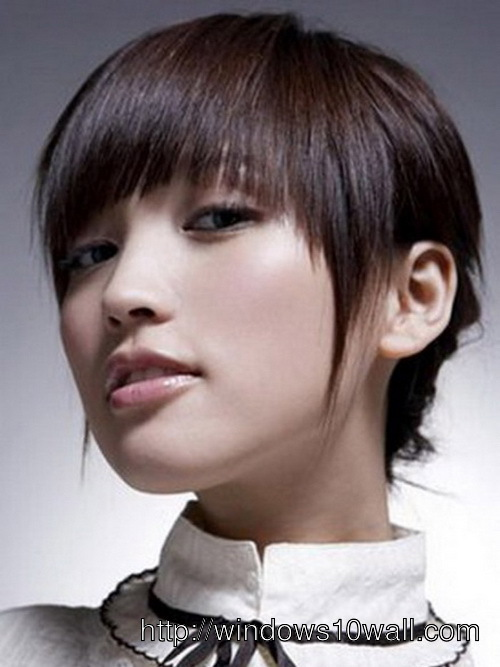 Trendy Asian Short Hairstyles 2014 Wallpaper