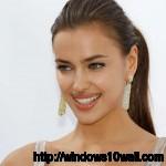 Irina Shayk Smiling Background Wallpaper