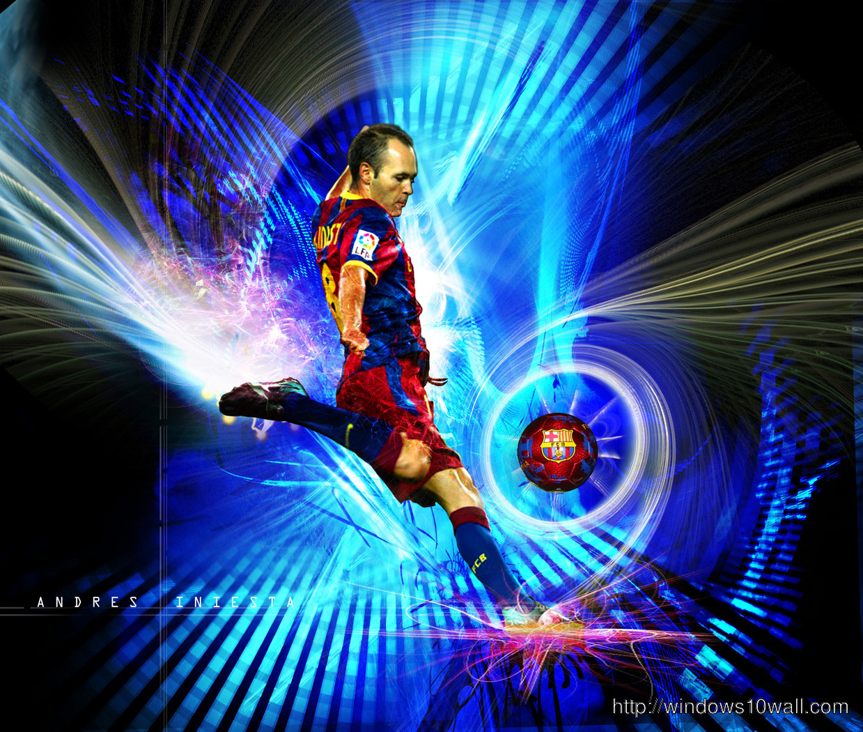 Andr S Iniesta FC Barcelona Andres Iniesta Lujan Hd Background Wallpaper