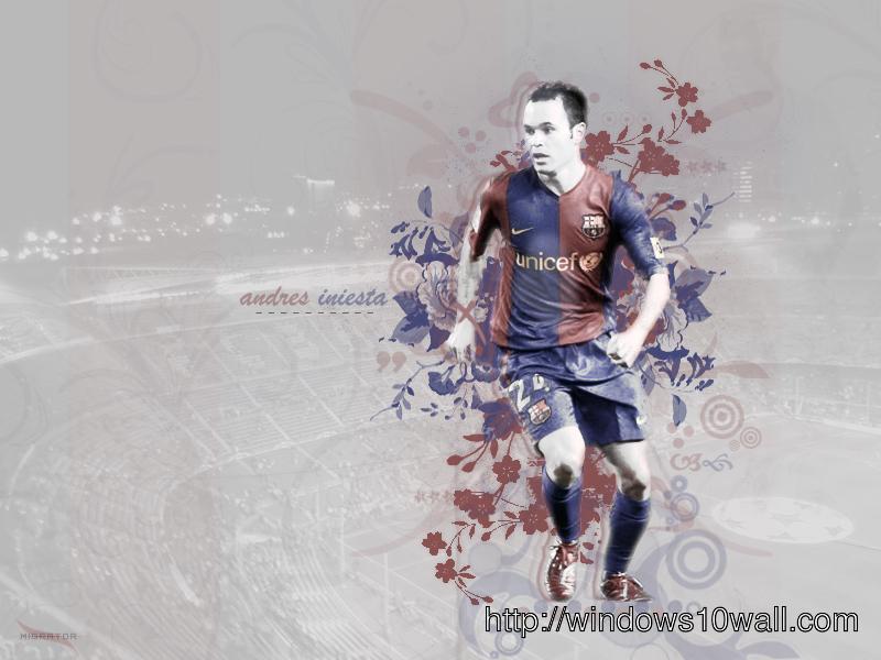 Andres Iniesta 2012 HD Background Wallpaper