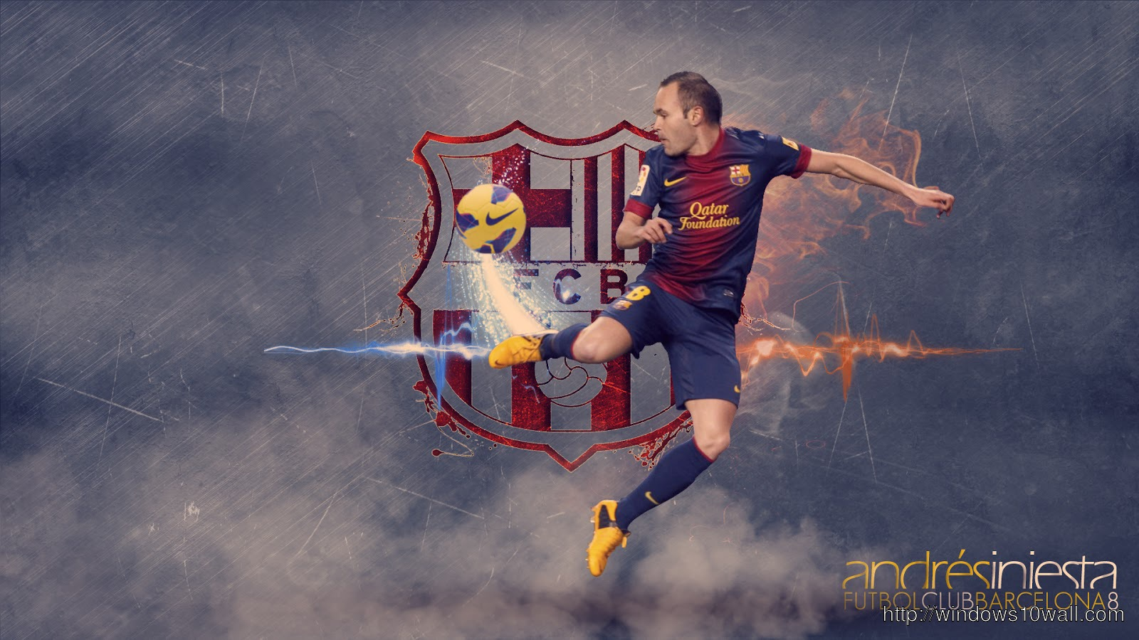 Andres iniesta barcelona wallpapers 2013 Background
