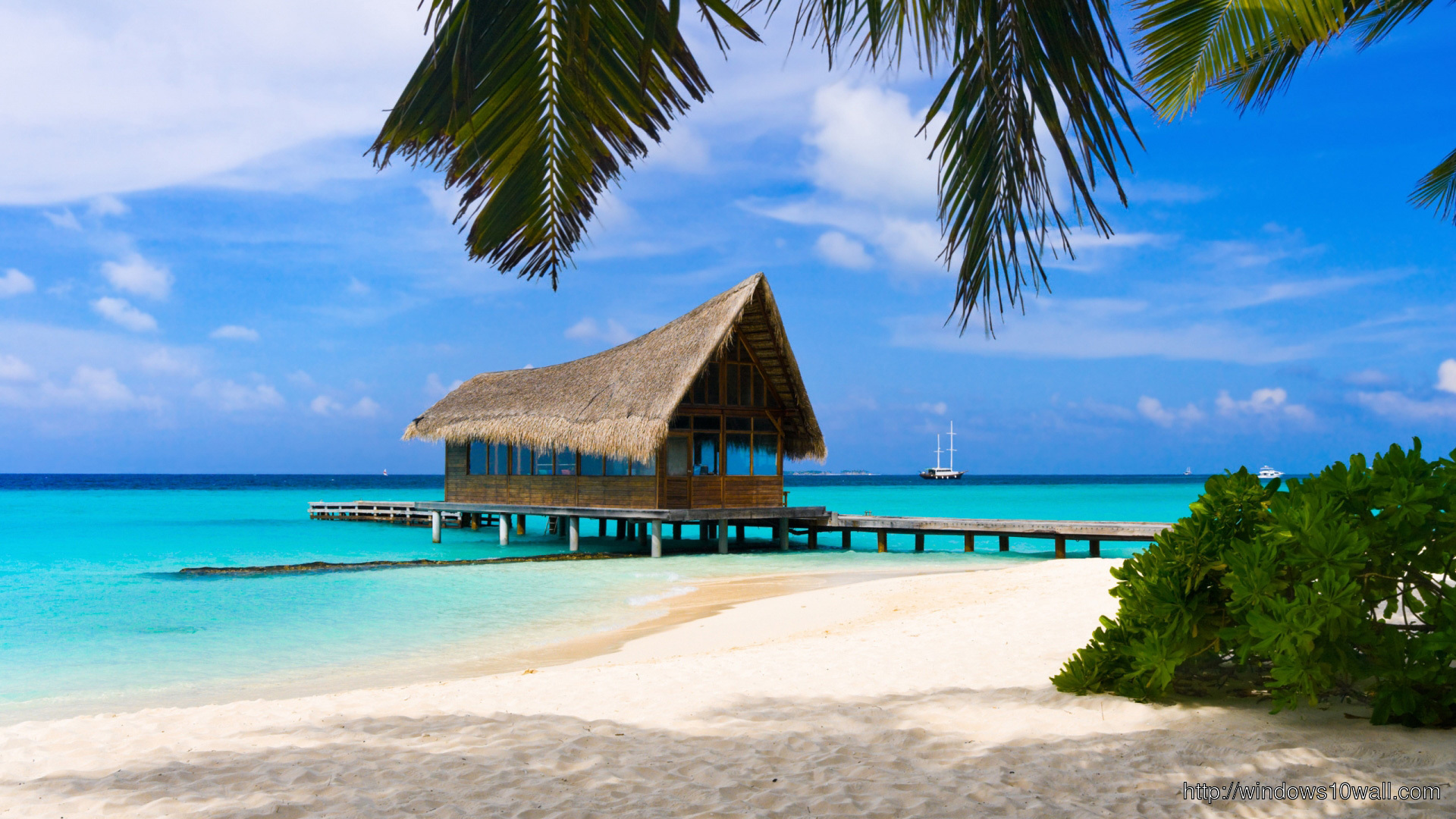 10 Best Tropical Beach Desktop Backgrounds Full Hd 1920: Beach Paradise HD Wallpaper