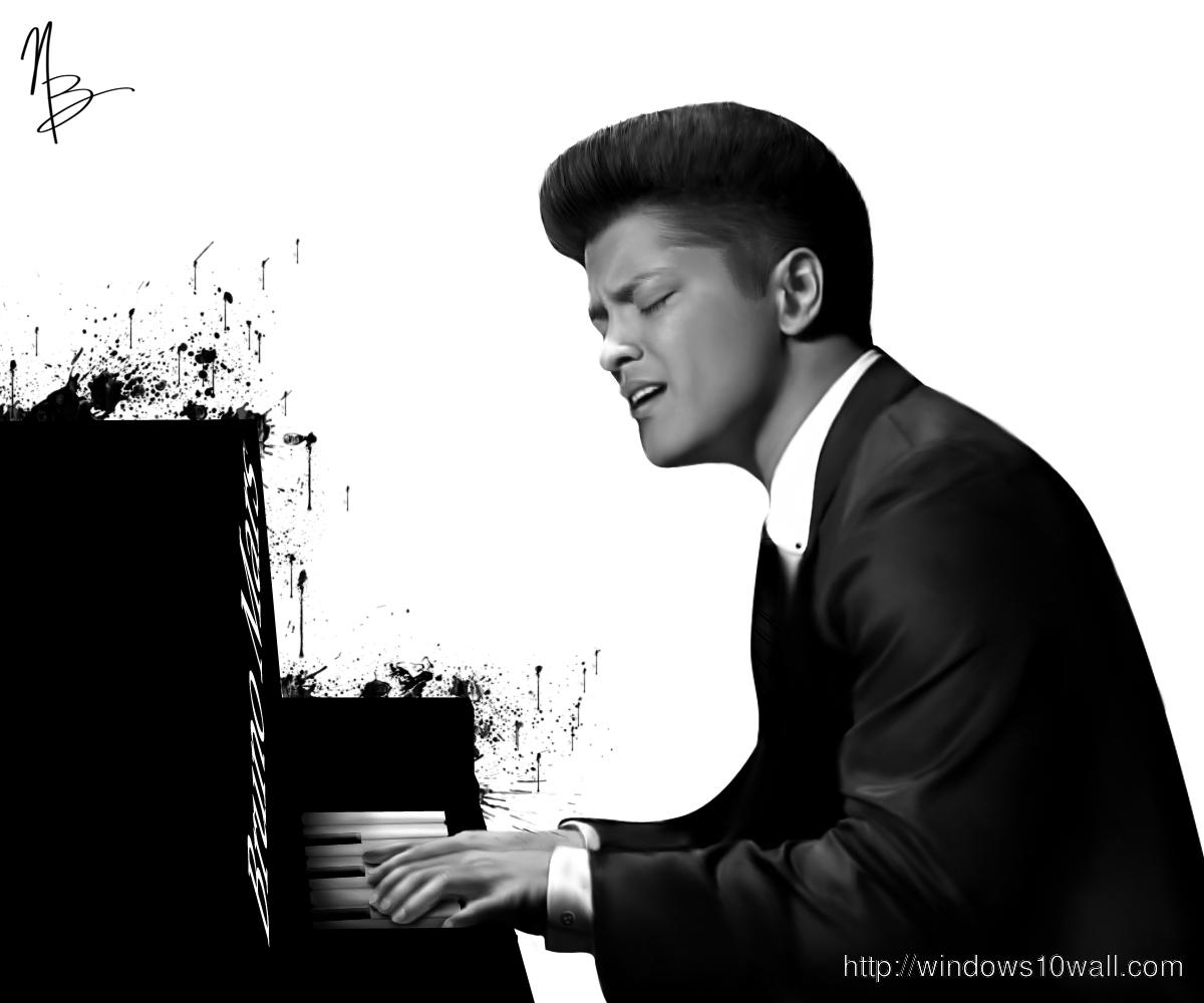Bruno Mars Creative Hd Wallpaper