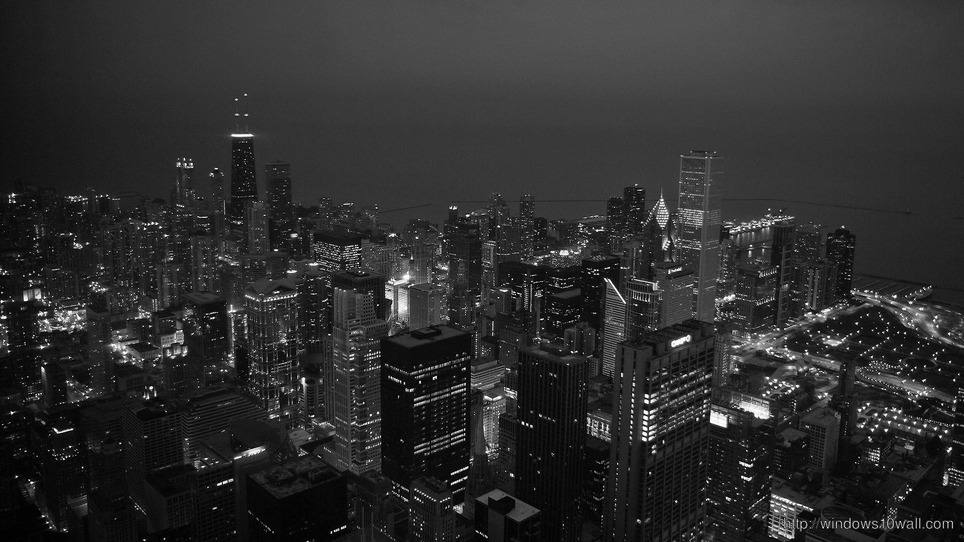 Chicago Black And White HD Wallpaper