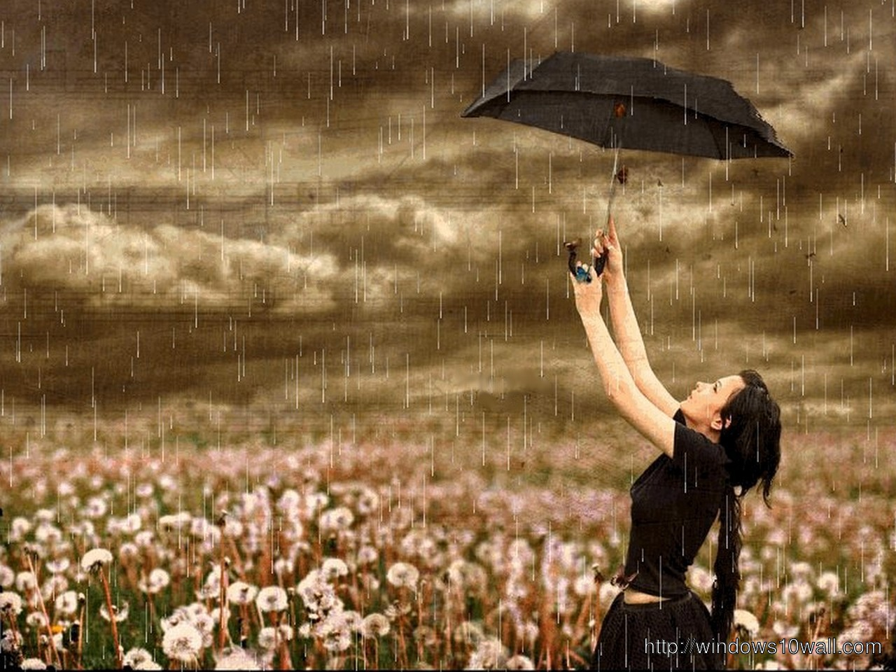 Cute-Girl-In-Rain-HQ-Background-Wallpaper
