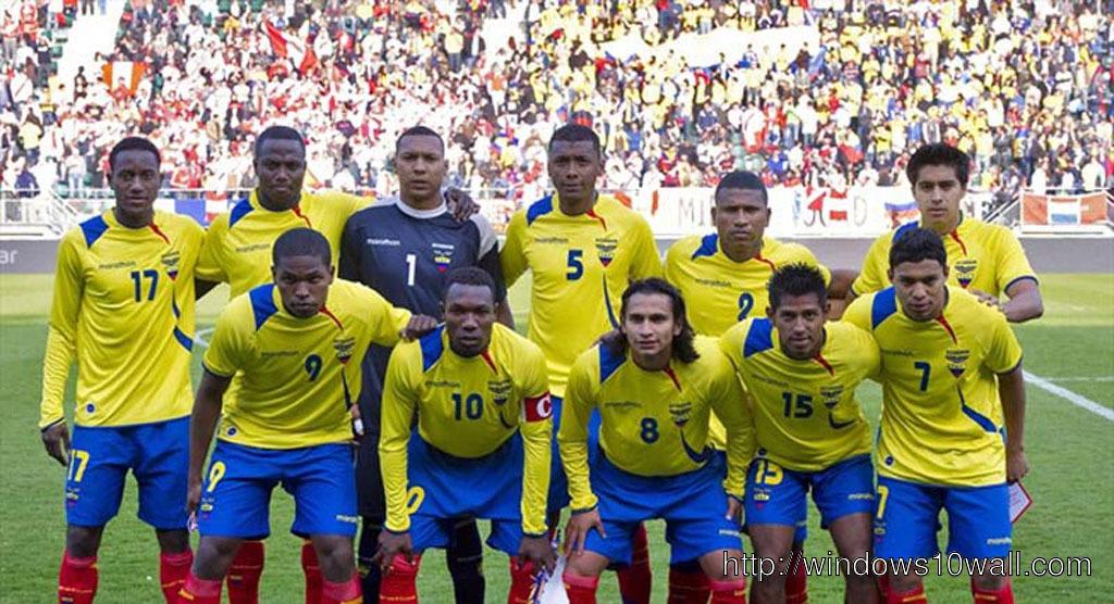 Ecuador National Football Team Zoom Background 2
