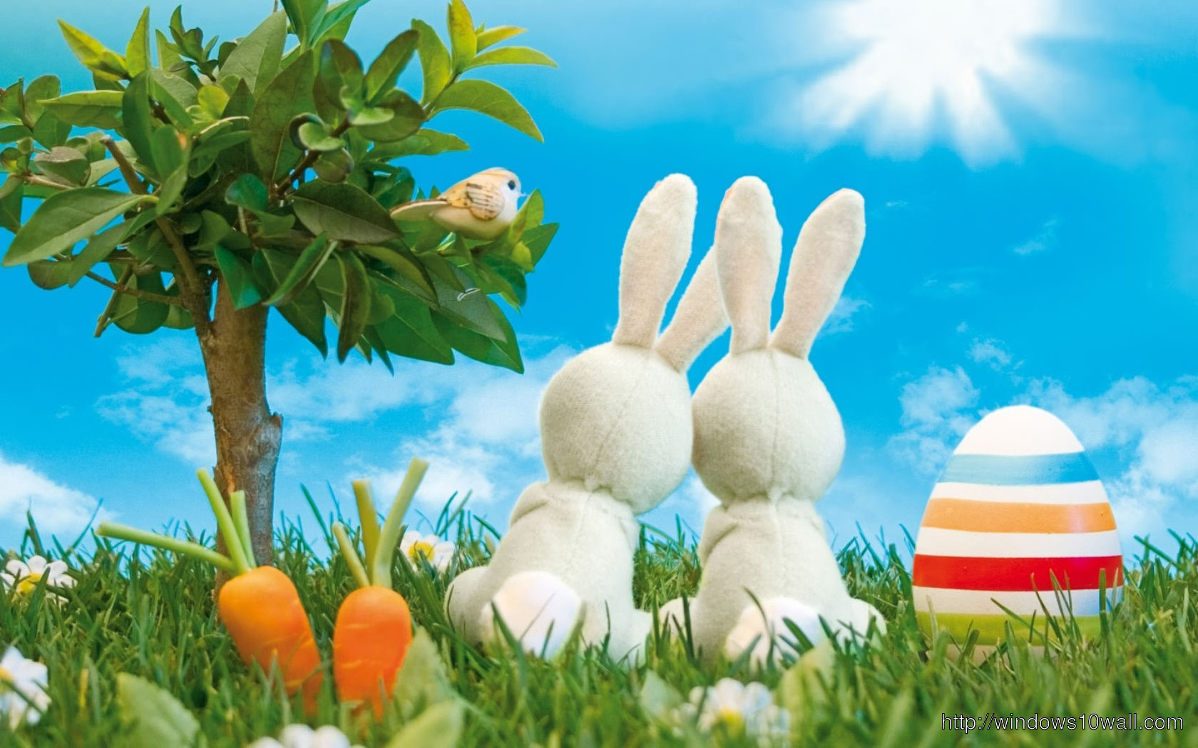 Happy Easter Bunny Full HD Wallpaper - windows 10 Wallpapers