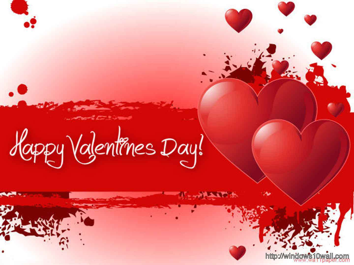 happy valentines day red greeting card hd wallpaper