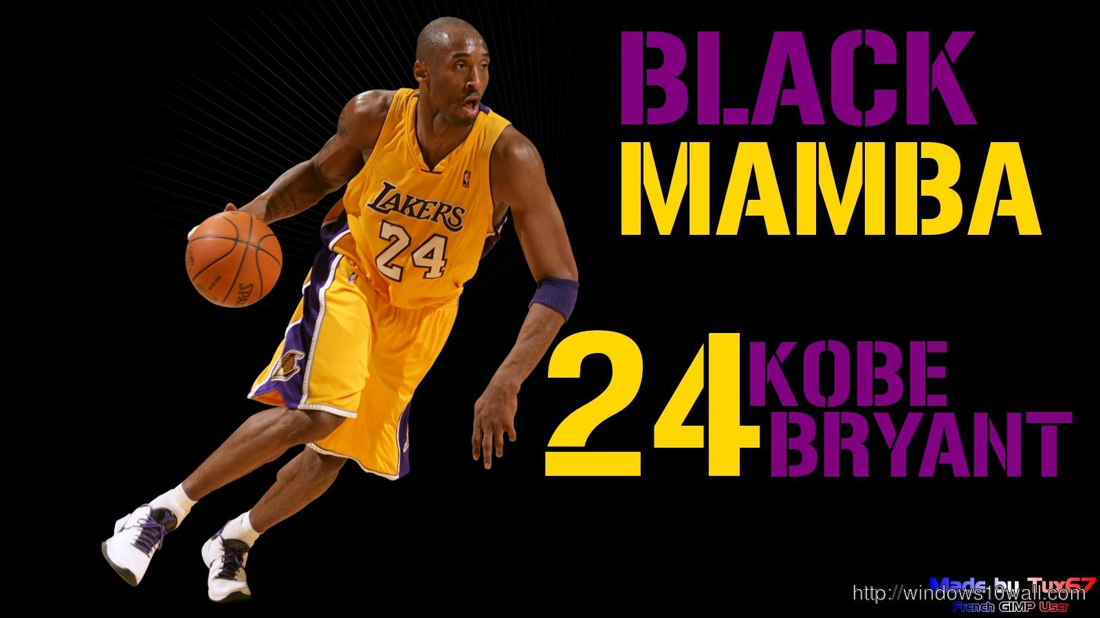 New Los Angeles Lakers Kobe Bryant Hd Wallpaper Windows 10 Wallpapers