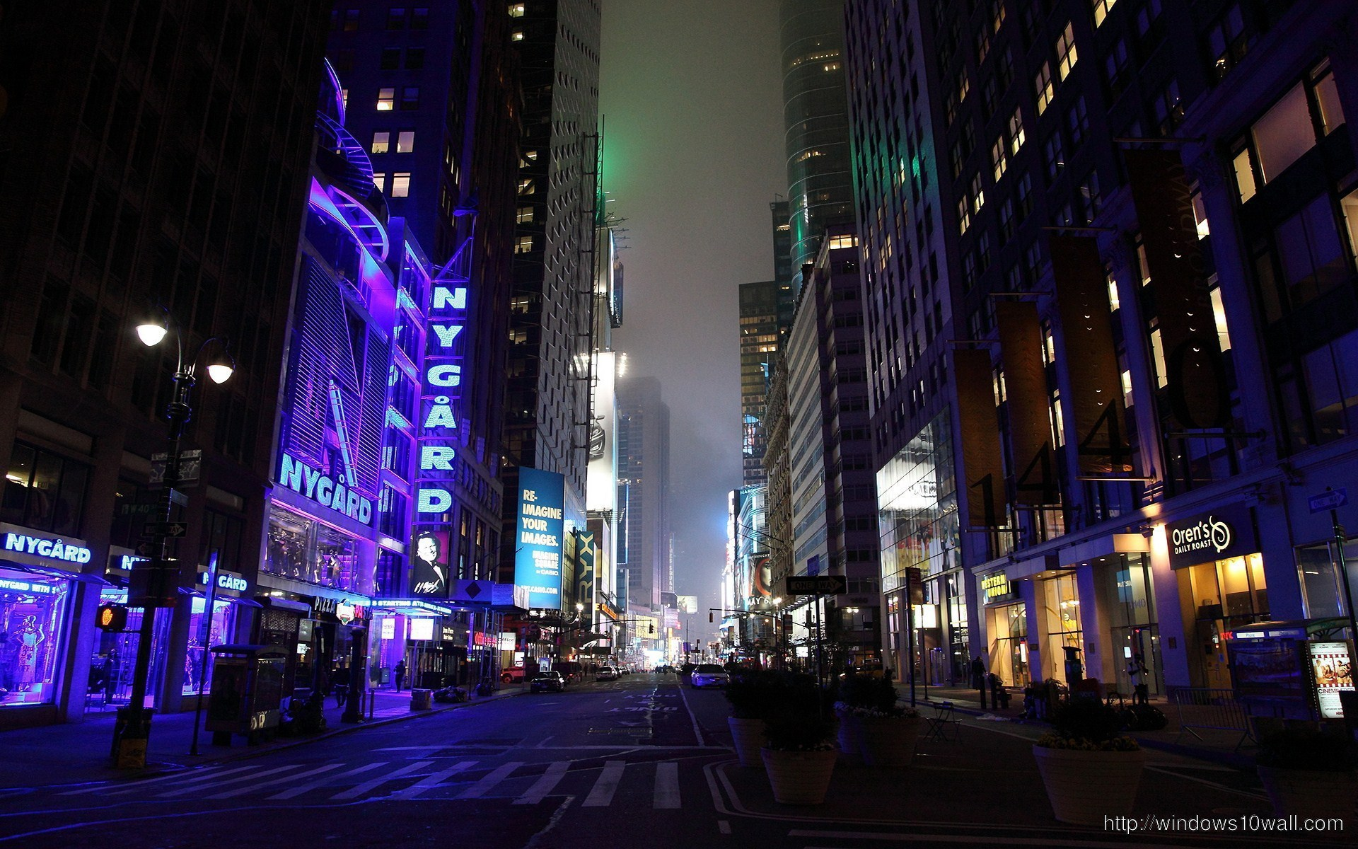 New york city night view hd wallpaper windows 10 wallpapers for Wallpaper home new york