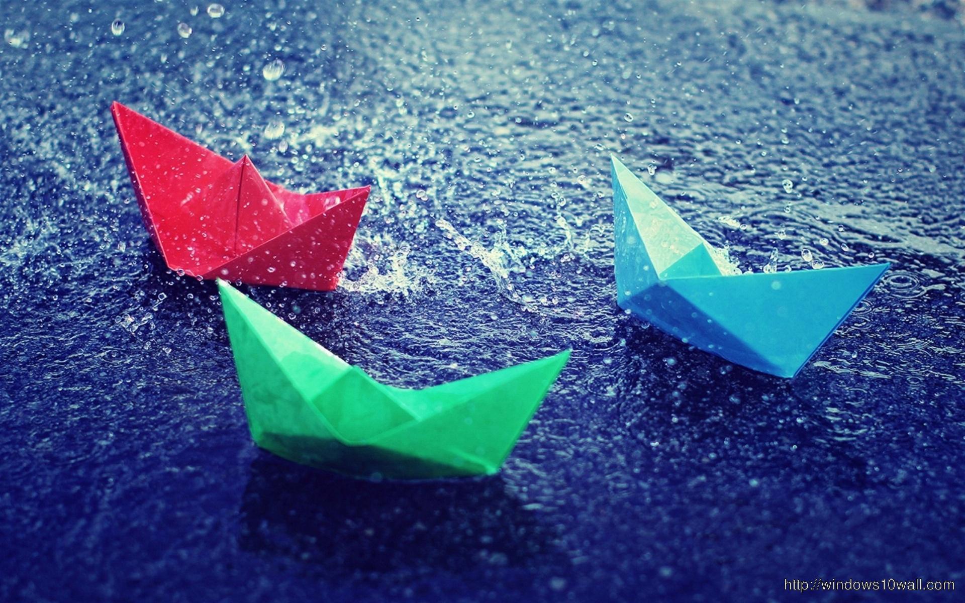 Paper-Boats-Rain-HD-Wallpaper