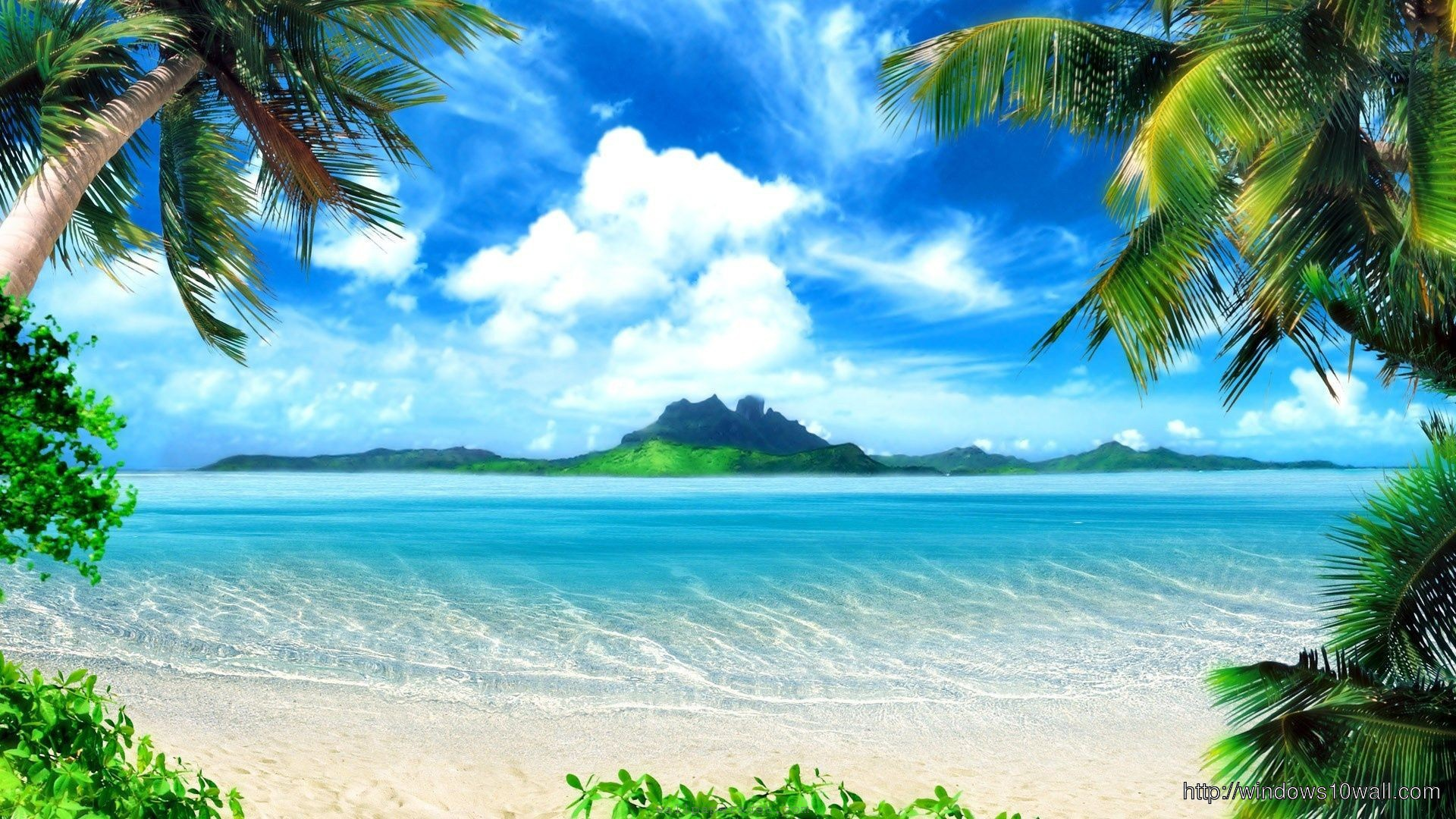 Paradise Beach Summer Hd Download Wallpaper Windows 10 Wallpapers