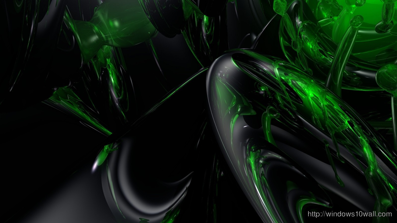 Black And Green Abstract Hd Wallpaper Windows 10 Wallpapers
