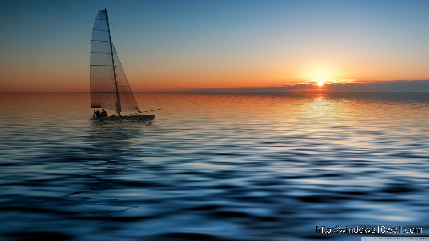 Boat At Sea Hd Download Wallpaper