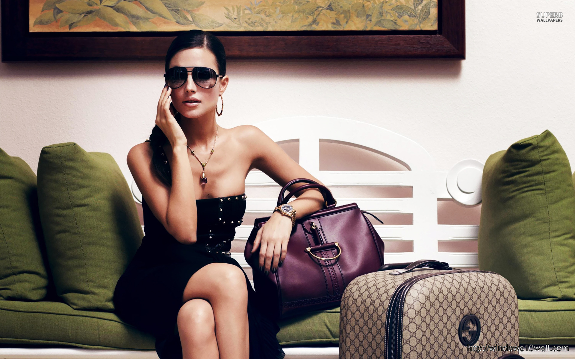 Diana Morales in Sunglasses 1920x1200 wallpaper