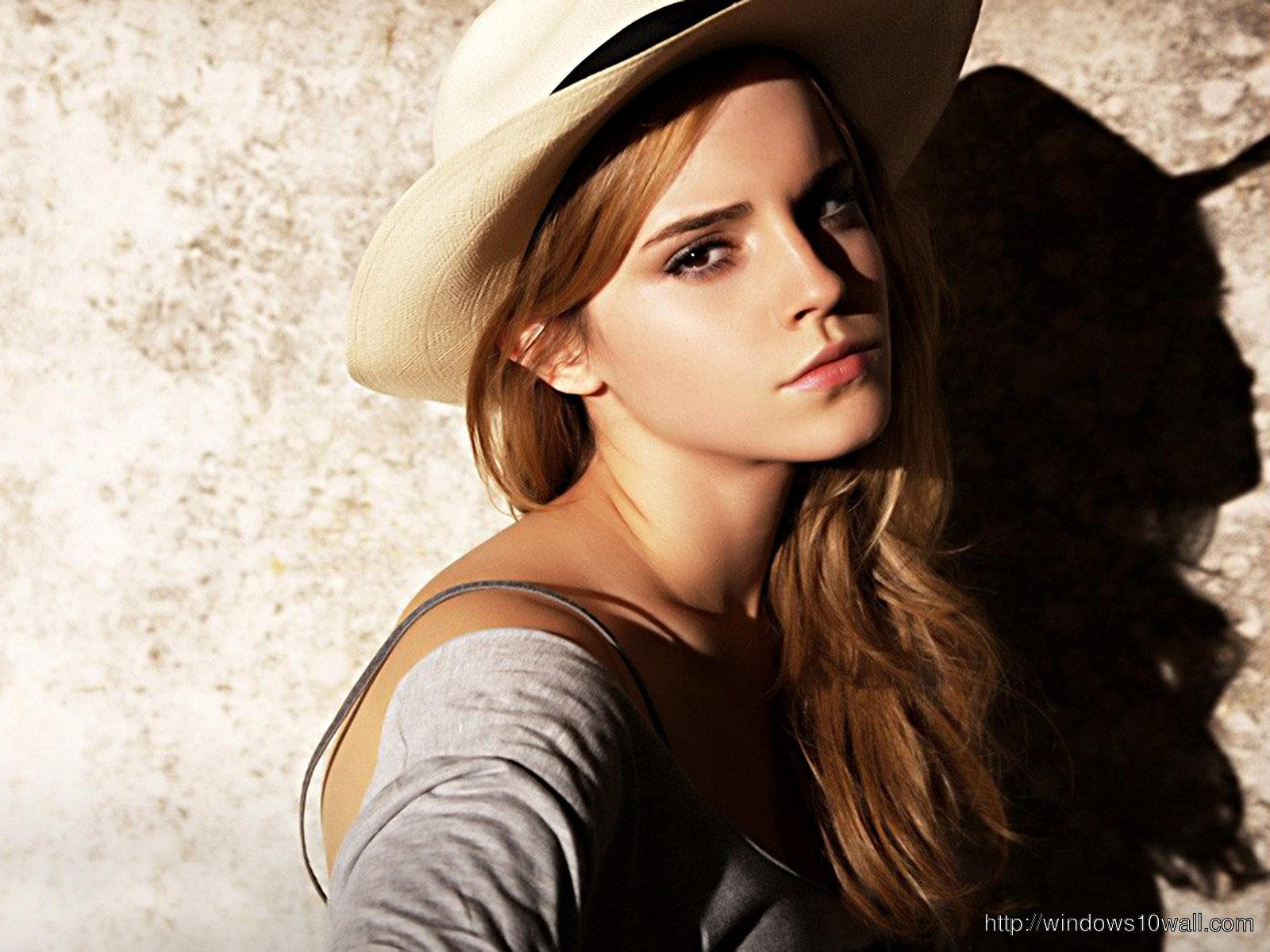 emma-watson-cute-look-in-hat-hd-Wallpaper