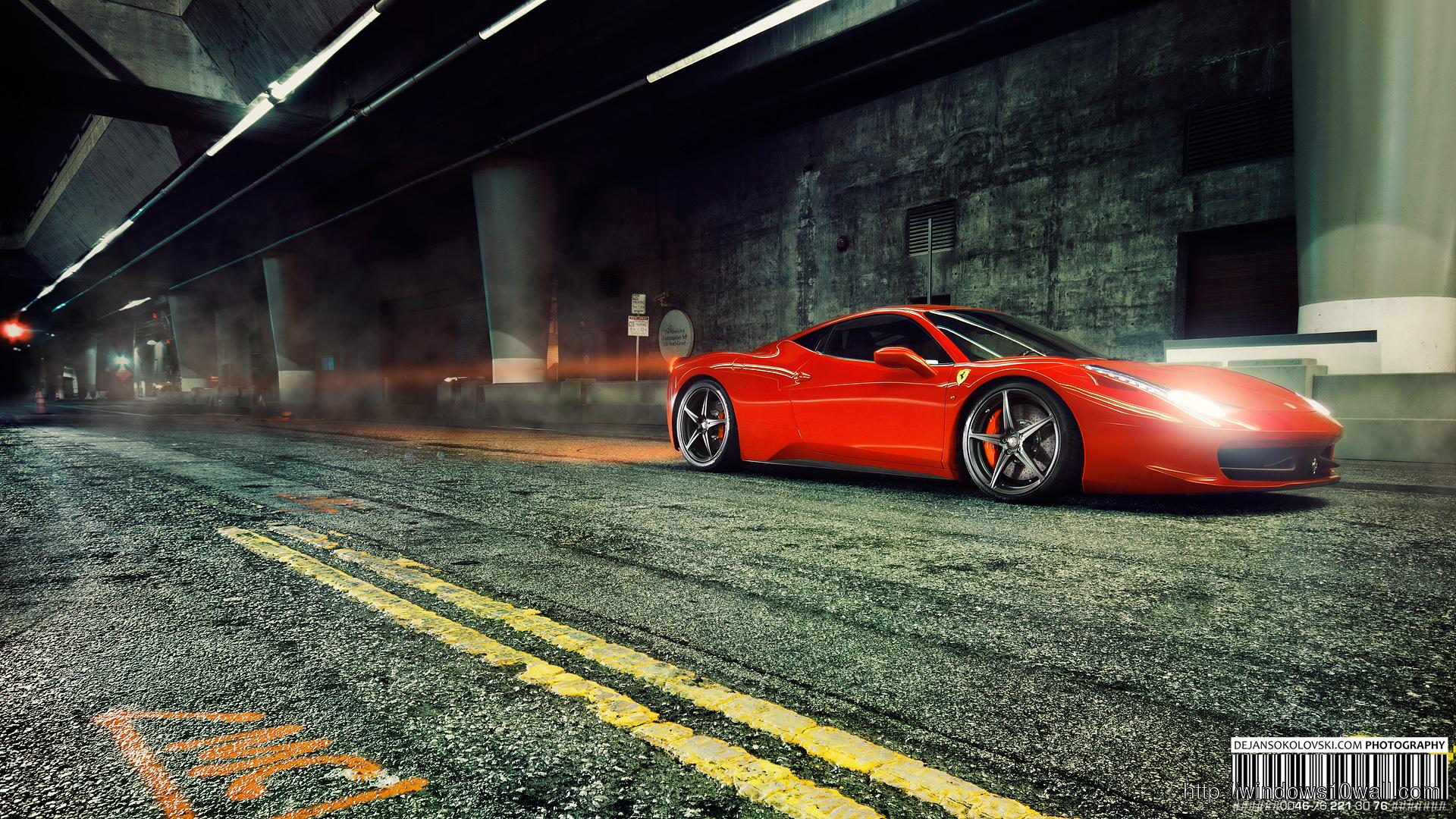 Ferrari 458 Italia Background Wallpaper