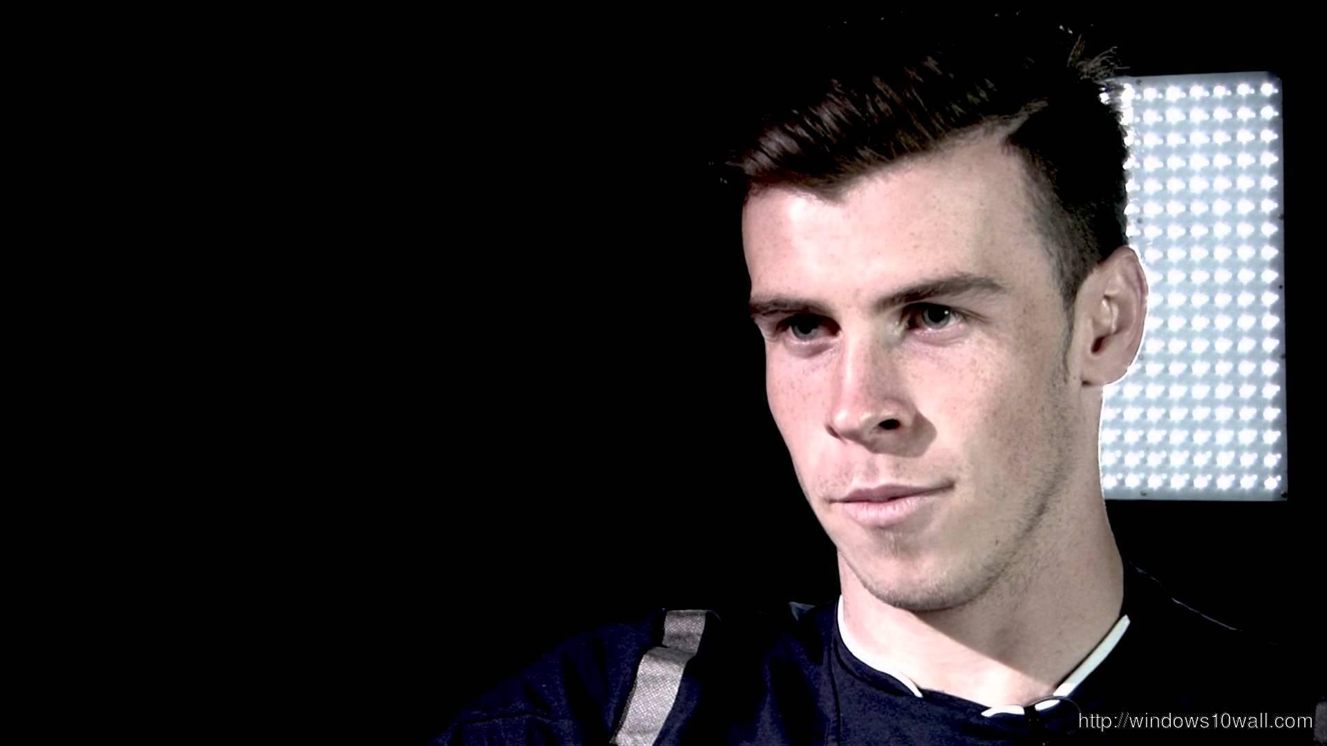 Gareth Bale in Black Background Wallpaper