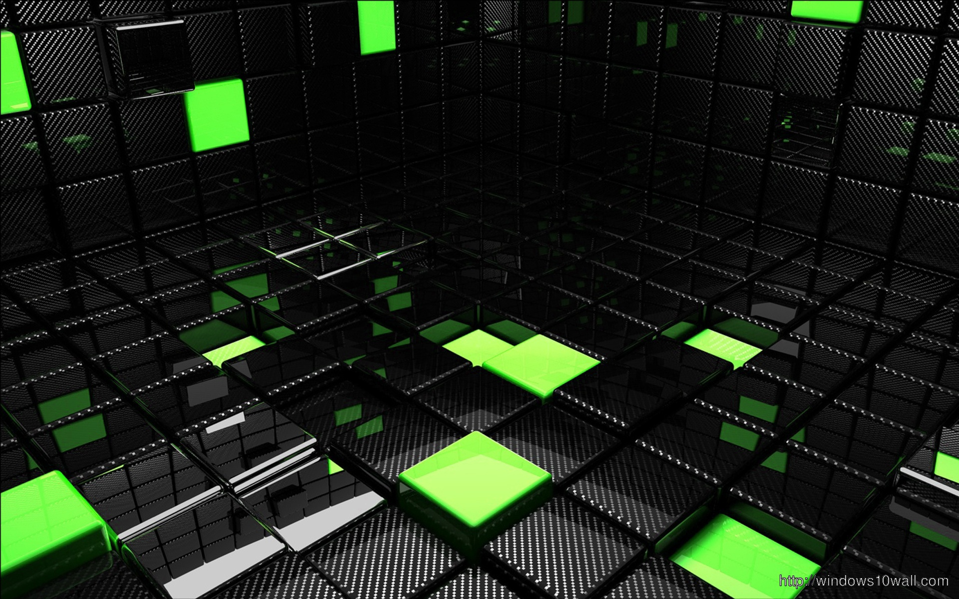 Green And Black Cubes Hd Wallpaper Windows 10 Wallpapers