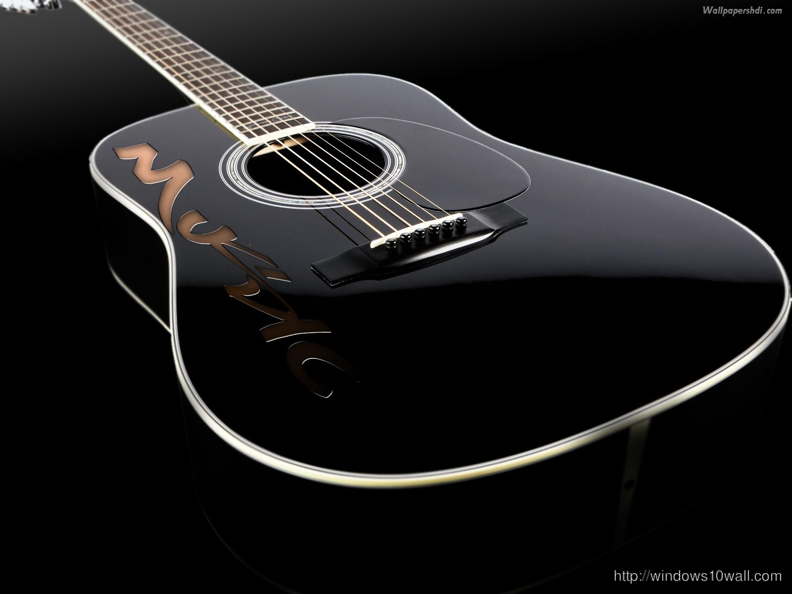 Guitar wallpaper Black Background Pic