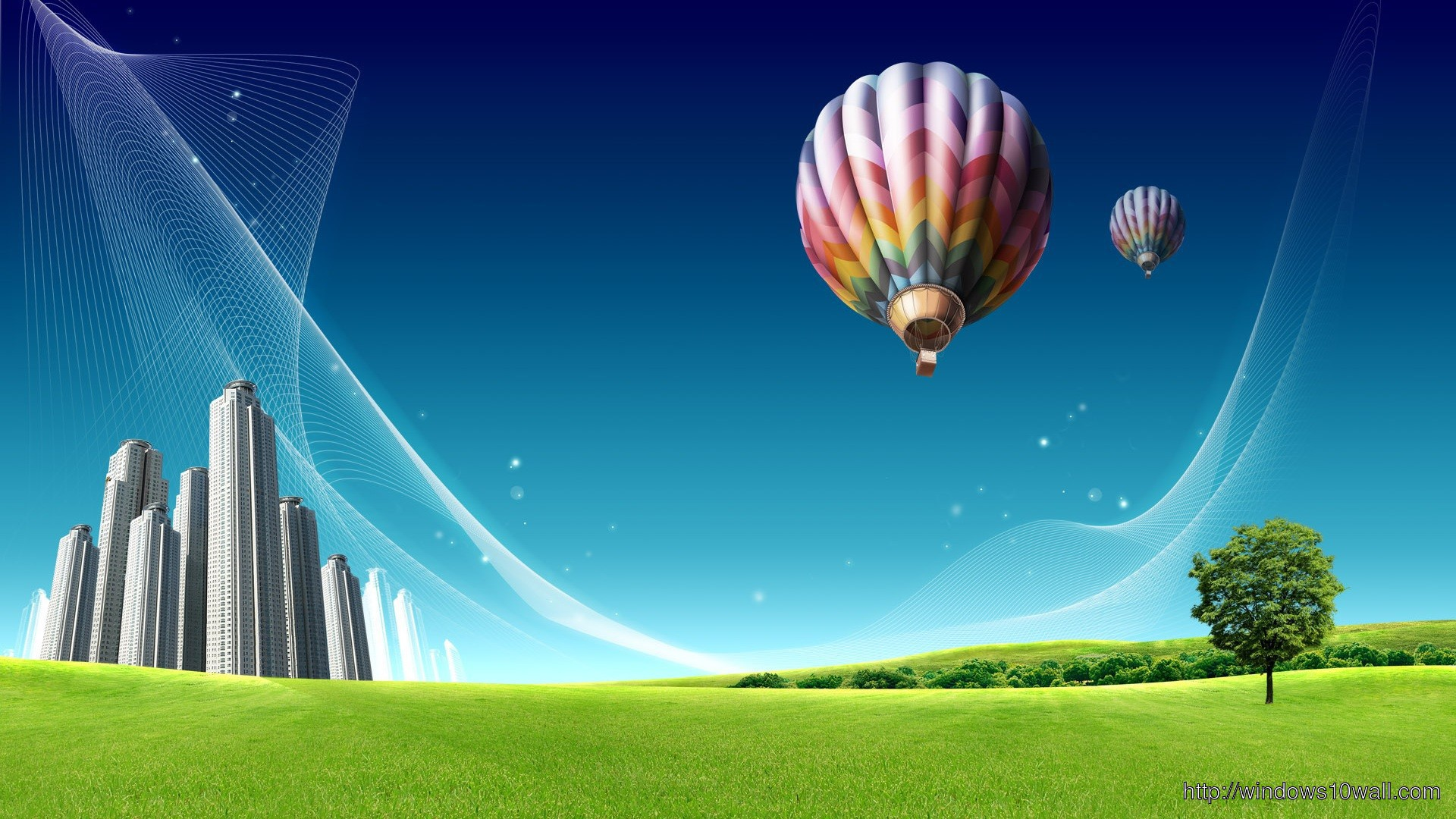 Hot Air Balloon Hd Widescreen Wallpaper Windows 10 Wallpapers