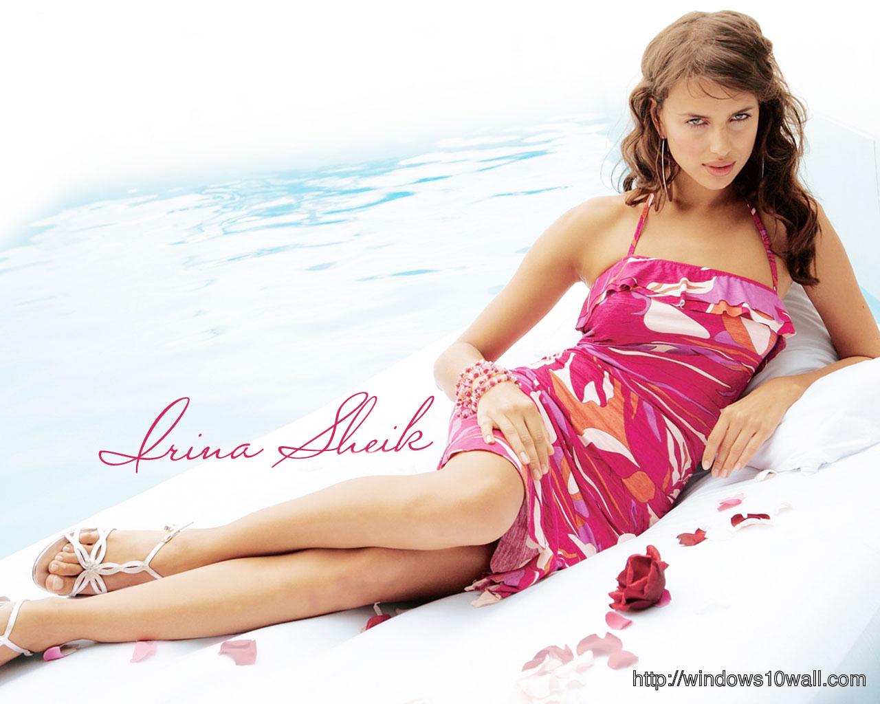 Irina Shayk in Red HD Wallpaper