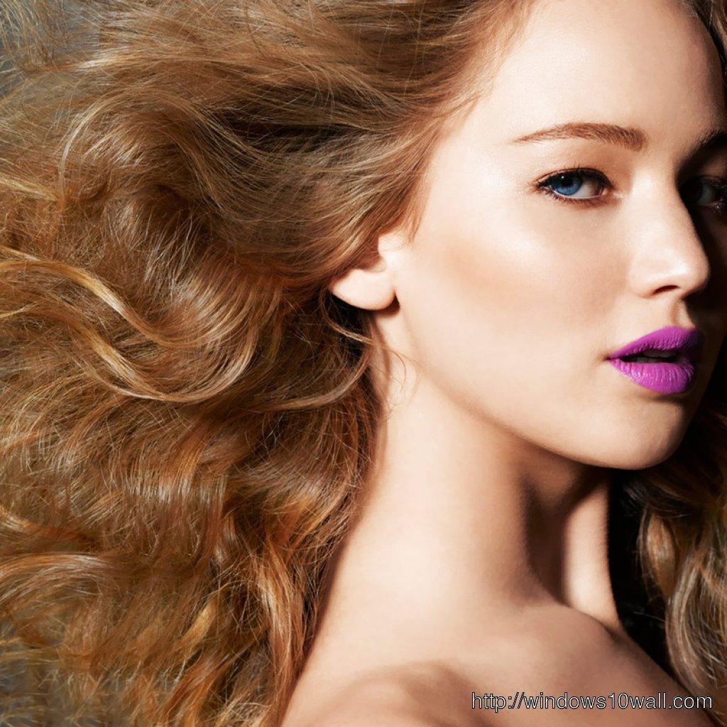 jennifer-lawrence-Cute-Look-in-Lipstick-Wallpaper
